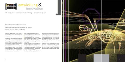 Image-Broschüre, KOMPETENZfeld Entwicklung & Innovation
