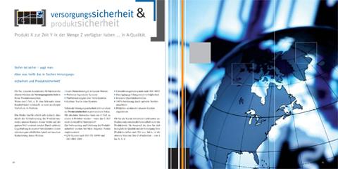 Image-Broschüre, KOMPETENZfeld Versorgungssicherheit & Produktsicherheit